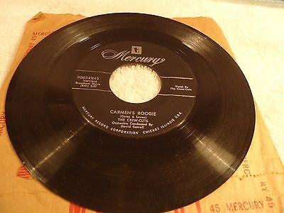 """(R) 1955 7"""" 45 rpm The Crew-Cuts A Story Untold Carmen's Boogie Easy Listening"""