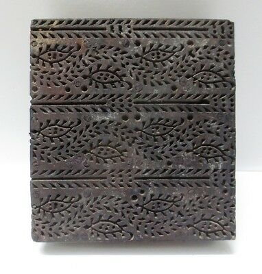 WOOD HAND CARVED TEXTILE PRINT ON FABRIC CLAY BATIK WALLPAPER BLOCK STAMP 08