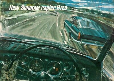 Sunbeam Rapier H120 Fastback 1968-69 UK Market Foldout Sales Brochure
