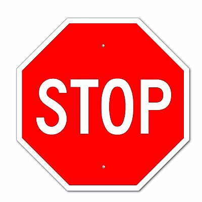 "Stop Sign Aluminum Metal Road Highway Traffic 24""x 24"" Street Signs 1/8"" thick!"
