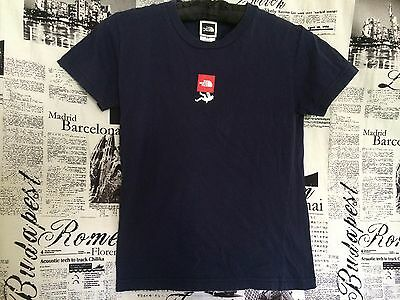 THE NORTH FACE Never Stop Exploring Women's 100% Cotton T-shirt Navy Blue Small