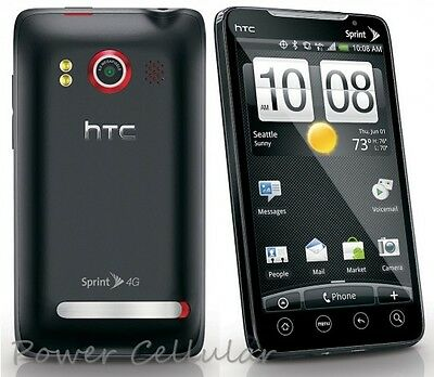 USED - HTC EVO 4G Black (Sprint) WiFi Android Smartphone Cell Phone - Clear ESN
