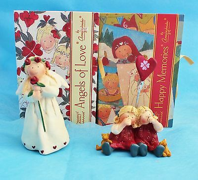 NEW Annekabouke Angel of Love Figurine  & Happy Memories Twins photo holder
