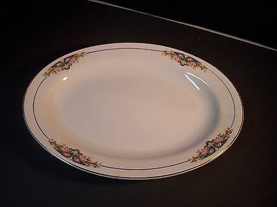 "KNOWLES TAYLOR KNOWLES 14"" OVAL PLATTER KTK138 PINK ROSE"