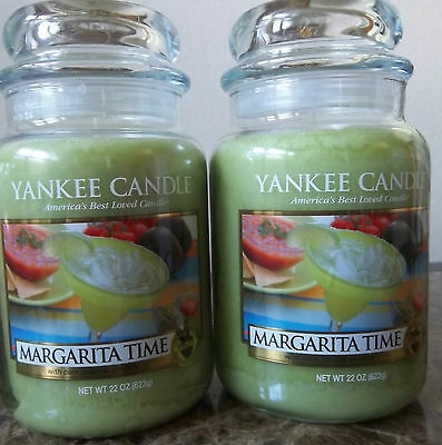Lot of 2 Yankee Candle   NEW Margarita Time  22 oz. Candles Free Shipping