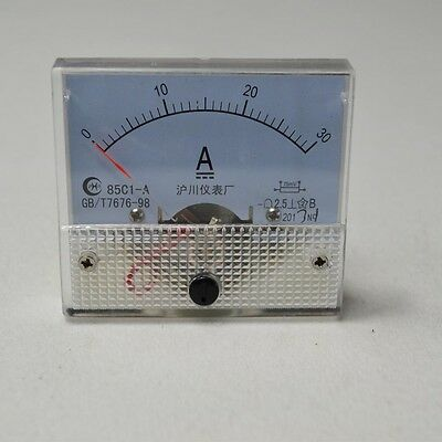 85C1 DC 30A Analog Ampere Current AMP Panel Meter Ammeter Gauge 0-30A
