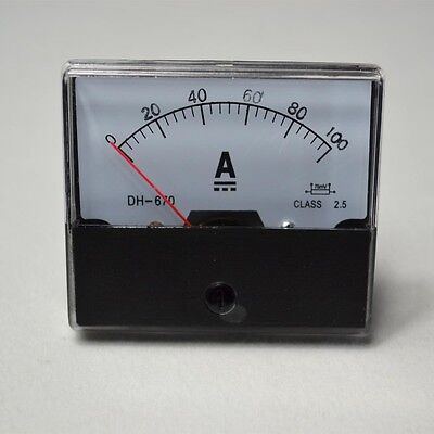 Analog Amp Panel Meter Current Ammeter DC 0-100A