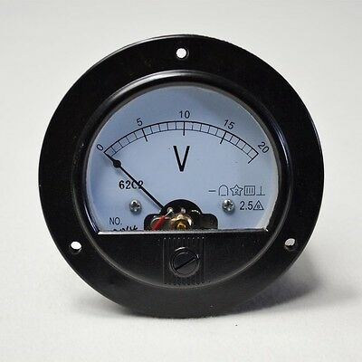 High Quality Round Analog Volt Panel Meter DC 20V