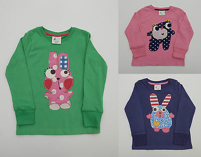 Girls Boden Fun Long Sleeved Applique Top Tee 100% Cotton Age 1-8 Years Bnwot
