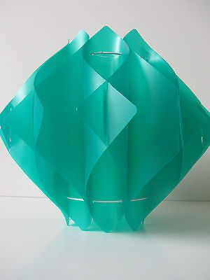 retro 60s green 3D origami style lampshade plastic kitsch vintage mid century