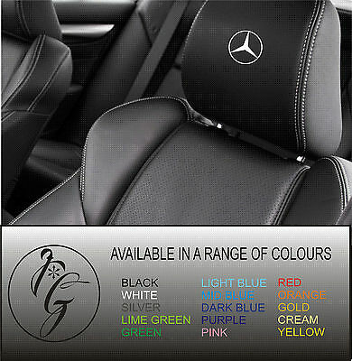 5 mercedes car seat head rest decal sticker vinyl graphic logo badge free post