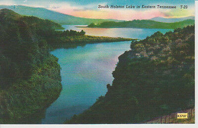TENNESSEE-SOUTH HOLSTON LAKE Unposted, Hand Colored Print, Antique Postcard