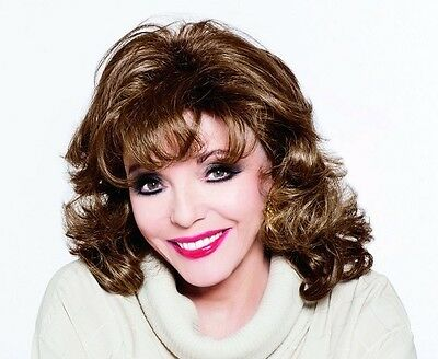 "JOAN COLLINS - 10"" x 8"" Colour Photo 'JOAN COLLINS WIG COLLECTION' #00401"