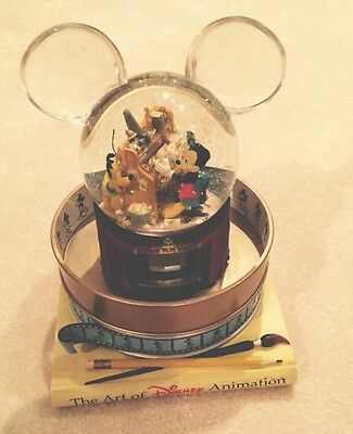 The Art of Disney Animation Musical Snow Globe with Special Animation Effect