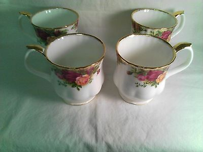 """Royal Doulton, Royal Albert, Old Country Roses, """"Coffee Mugs(Cups) Four"""" England"""