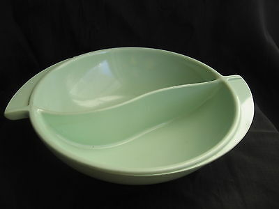 vtg space age Boonton New Jersey mint green serving party bowl flying saucer NJ