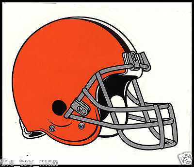 CLEVELAND BROWNS NFL TEAM LOGO LICENSE FOOTBALL GLOSSY DECAL STICKER