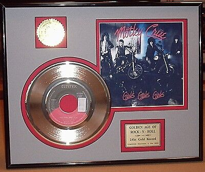 Motley Crue - Framed 24k Gold Record Display Collectors Edition - USA Ships Free