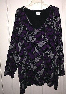 ULLA POPKEN Top Knit Jersey 28 30 4X 5X Relaxed Fit NICE