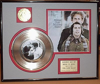 Simon & Garfunkel - Framed 24k Gold Record Collectors Edition - USA Ships Free