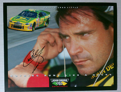 CHAD LITTLE  AUTHENTIC AUTOGRAPH 8x10 CARDBOARD PROMO PHOTO NASCAR  RACING
