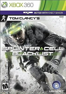 Tom Clancy's Splinter Cell Blacklist XBOX 360 NEW! KINECT COMPATIBLE, ASSAULT