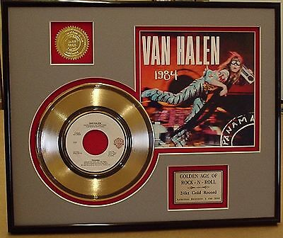 Van Halen - Framed 24k Gold Record Display Collectors Edition - USA Ships Free