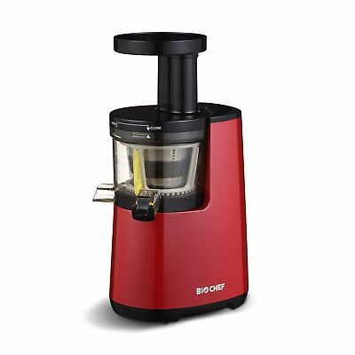 NEW BioChef Atlas Cold Press Slow Fruit Juicer - Red