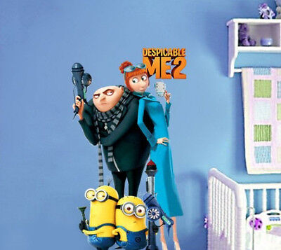Despicable Me 2 Minions Stickers Wall Decal Removable Art Home Mural Deco Vinyl