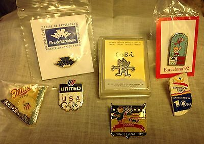Lot Of 7 1992 Barcelona Olympic Pins