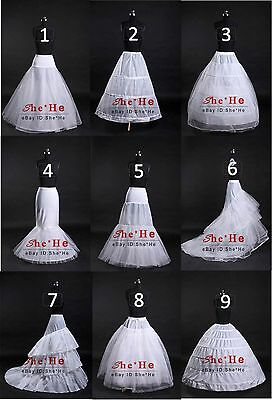 Wedding A-Line/Fishtail/Mermaid Hoop/Hoopless Ball Gown Crinoline Petticoat Slip