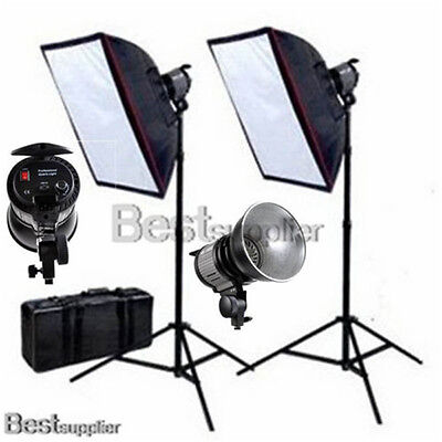 2000W Photography Studio Quartz Continuous Lighting Set Video Light Softbox Kit