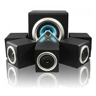 V-Cube 5.1 Surround Sound Pc Mp3 Laptop Tv Gaming Cinema Home Speaker System