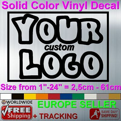 Custom Made Vinyl Sticker Decal Famous Brand Business Logo Wall Car Window Text