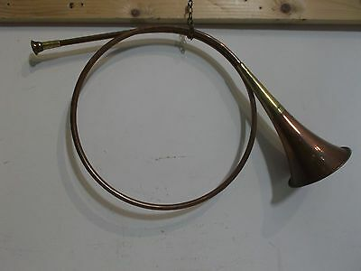 BRASS AND COPPER VINTAGE POST HORN