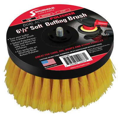 "Shurhold 46302M SHURHOLD 6 1/2"" SOFT BRUSH FOR DUAL ACTION POLISHER"