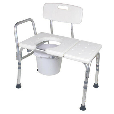 Carex Bathtub Transfer Bench with Opening and Bucket Transfer Bench