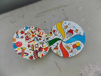 Vintage TWO Tin Noisemaker Ratchet New Years Eve With Clown