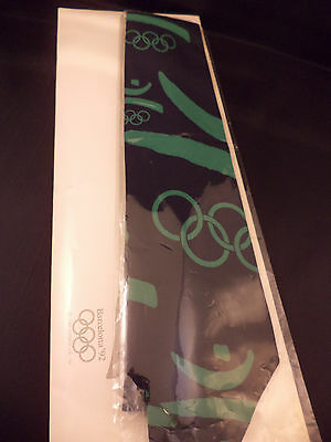 1992 Barcelona Olympics Green and Black Neck Tie NEW In original packaging!