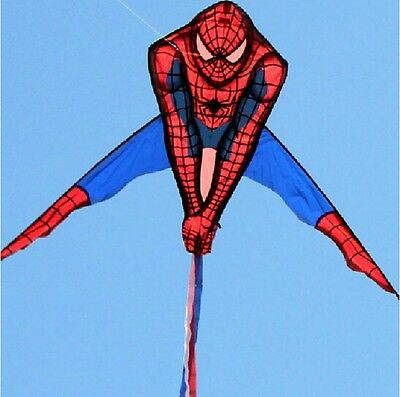 Spiderman Kite Huge,wide 3D,super Cool,easy Flying,toy,out Door Fun,uk Free Post