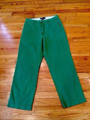 Men's Polo Ralph Lauren Green Chino Pants 32/30 Nwot Excellent Khakis Fratty
