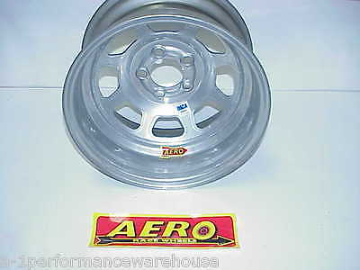 "Aero SILVER 5 x 4-1/2"" BP Wheel 15""x 8"" IMCA Sticker 2"" Offset 52-084520 W5"
