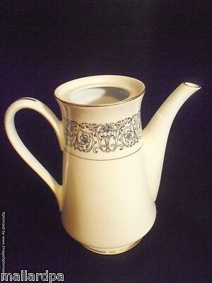 """Coventry Laurent Coffee Pot - No Lid - Fine China Japan 653 - 7-3/4"""" Tall"""