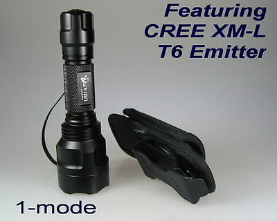 Ultrafire C8 CREE XM-L T6 1-mode Flashlight with belt clip holster