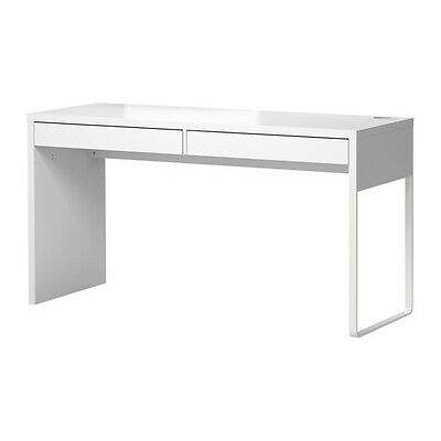 Ikea Micke Desk with 2 Drawers Computer Workstation Table White Modern NEW