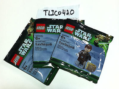 Exclusive Lot of 3x LEGO Star Wars Hoth Han Solo Minifigures New Sealed Polybag