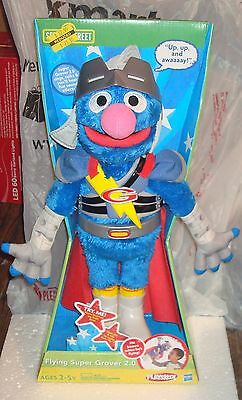 New ~ Sesame Street Flying Super Grover 2.0 Playskool Hasbro - Holiday Gift