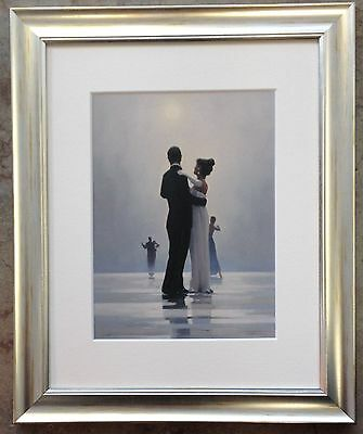 Dance Me To The End of Love by Jack Vettriano Framed & Mounted Art Print Silver
