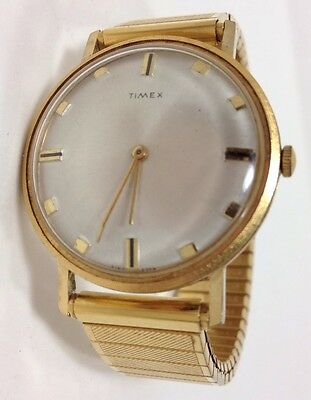Vintage Mens Timex Watch, 1969 Wind up- Ticks Keeps time, Wafer Thin