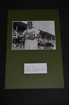 DON NEWCOMBE signed Original Autogramm 20x30 In Person Passepartout BASEBALL